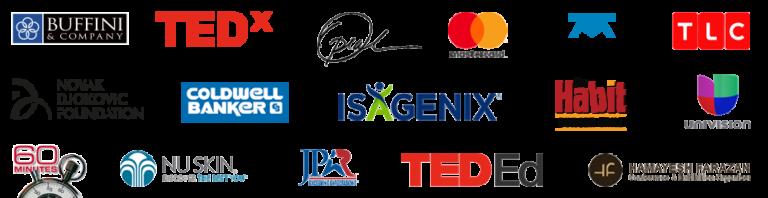 nick vujicic client logos